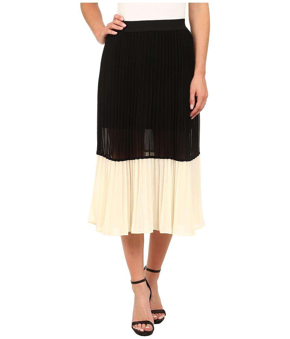 Brigitte Bailey - Dottie Color Block Skirt (Black/White) Women's Skirt