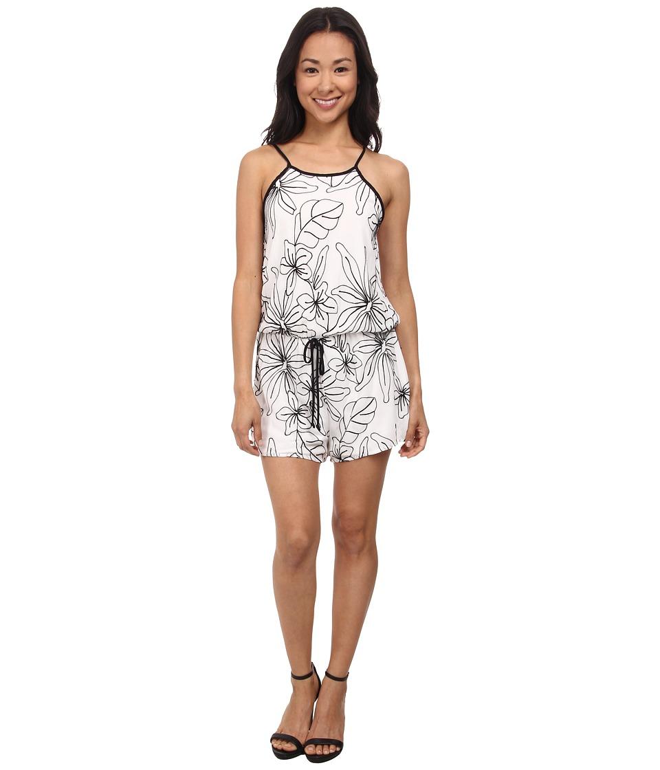 Gabriella Rocha - Janette Floral Print Romper (White/Black) Women
