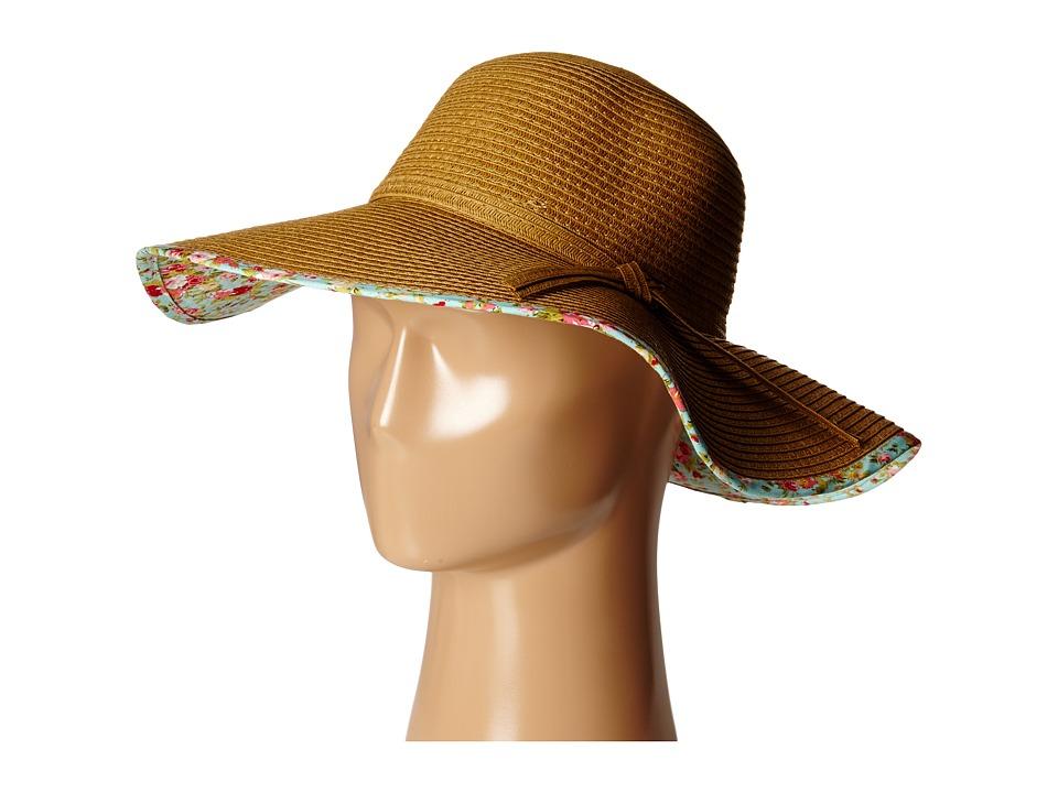 Gabriella Rocha - Genna Floral Print Rim Hat (Mint) Caps