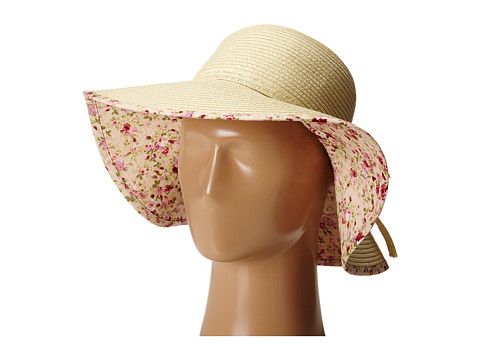 Gabriella Rocha - Genna Floral Print Rim Hat (Cream) Caps