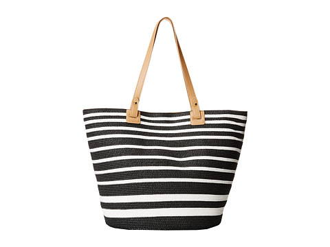 Gabriella Rocha - Kinsley Stripe Beach Bag (Black/White) Bags