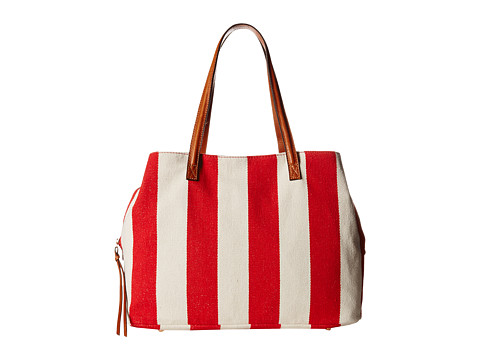 Gabriella Rocha - Felicity Stripe Beach Bag (Red) Tote Handbags
