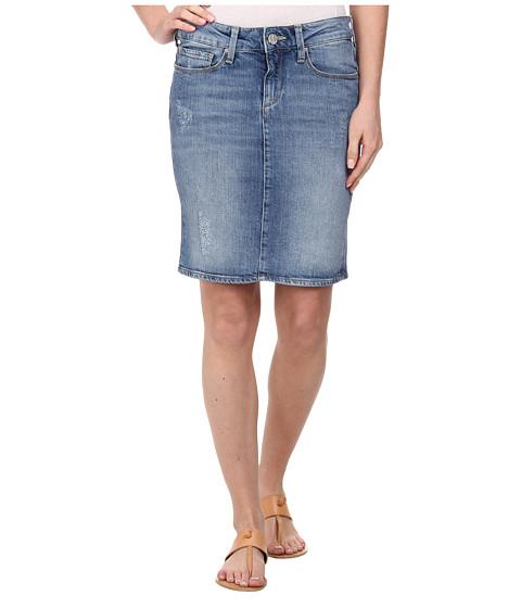 Mavi Jeans - Evelyn Destructed Pencil Skirt in Light Used (Light Used) Women