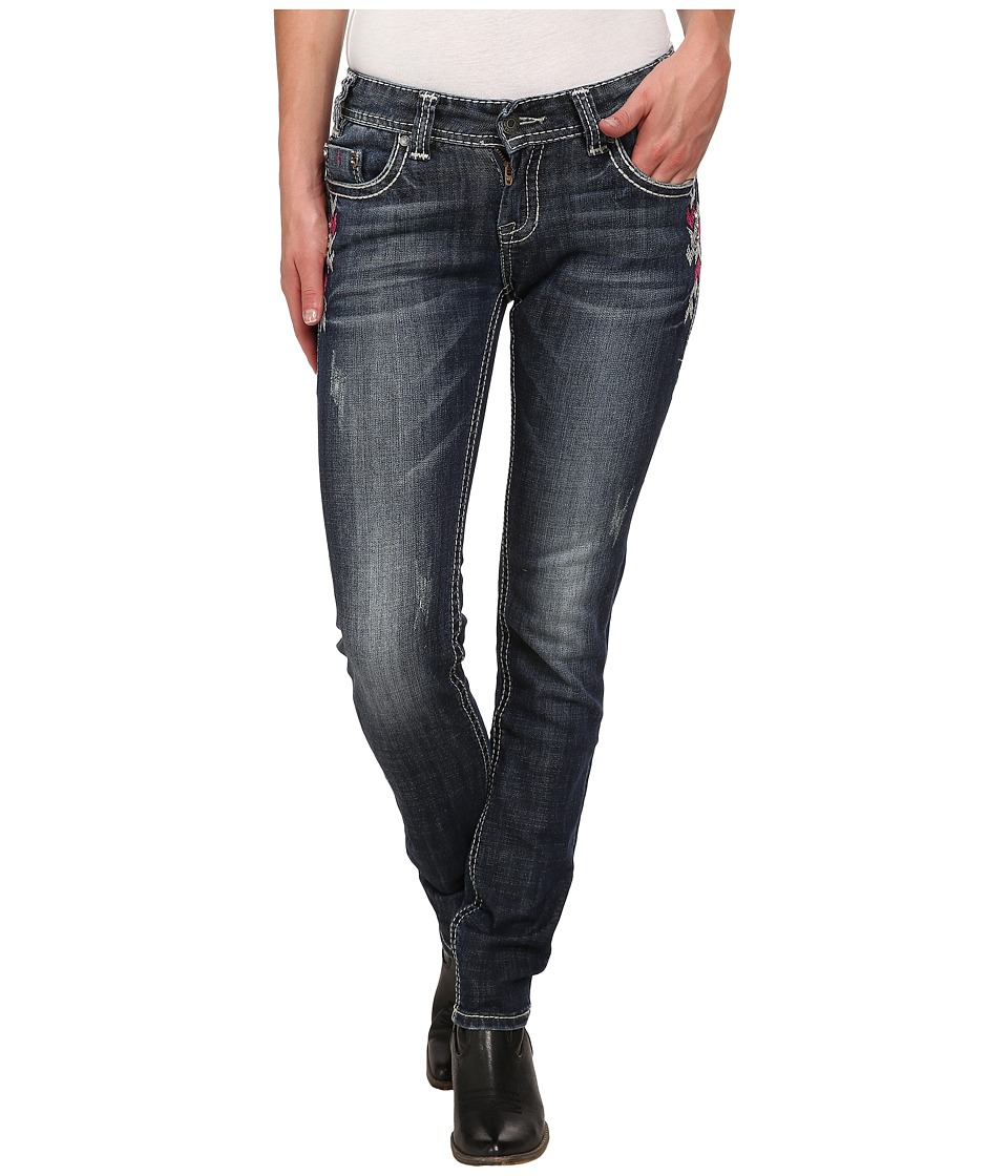 Rock and Roll Cowgirl - Low Rise Skinny in Dark Vintage W0S3645 (Dark Vintage) Women's Jeans