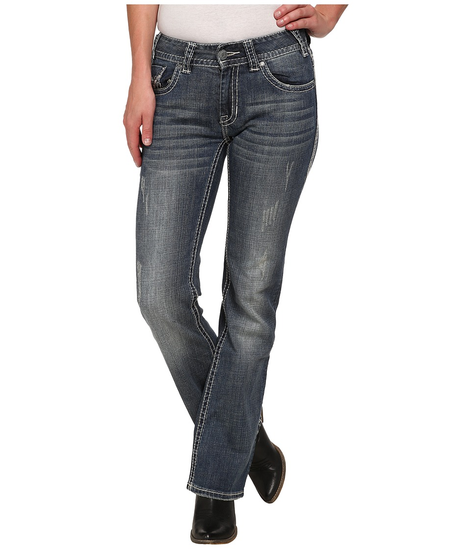 Rock and Roll Cowgirl - Mid Rise Bootcut in Dark Vintage W1-3637 (Dark Vintage) Women's Jeans