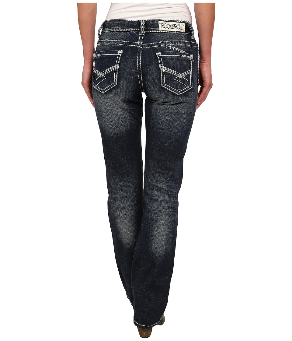 Rock and Roll Cowgirl - Boyfriend Fit in Dark Vintage W2-3641 (Dark Vintage) Women's Jeans
