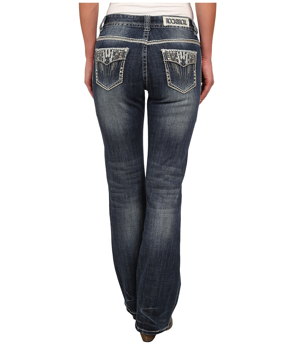Rock and Roll Cowgirl - Mid Rise Bootcut in Medium Vintage W1-2445 (Medium Vintage) Women's Jeans