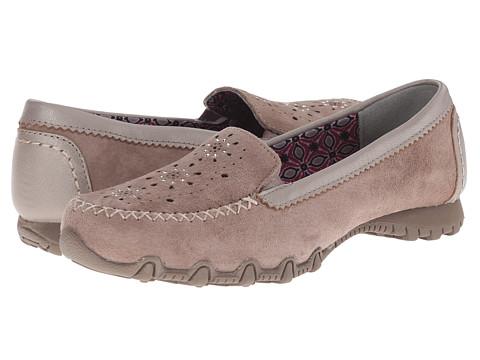 SKECHERS - Bikers - Wanderer (Dark Taupe) Women's Slip on Shoes