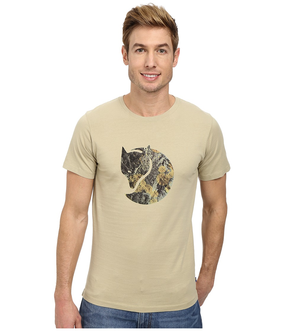 Fj llr ven - Rock Lichen Logo T-Shirt (Cork) Men's T Shirt