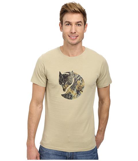 Fj llr ven - Rock Lichen Logo T-Shirt (Cork) Men's T Shirt