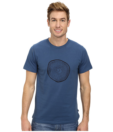 Fj llr ven - Wood Logo T-Shirt (Uncle Blue) Men's T Shirt