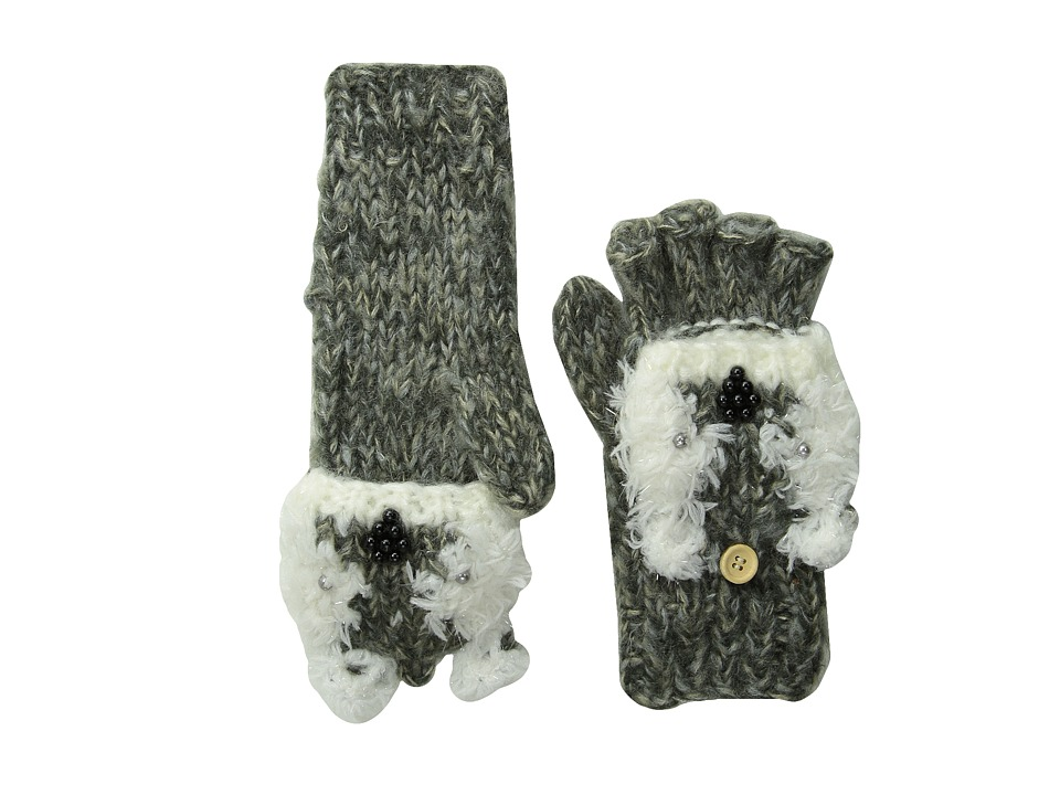 San Diego Hat Company Kids - KNG3465 Polar Bear Fingerless Flip Over Glove (Little Kids/Big Kids) (Polar) Dress Gloves