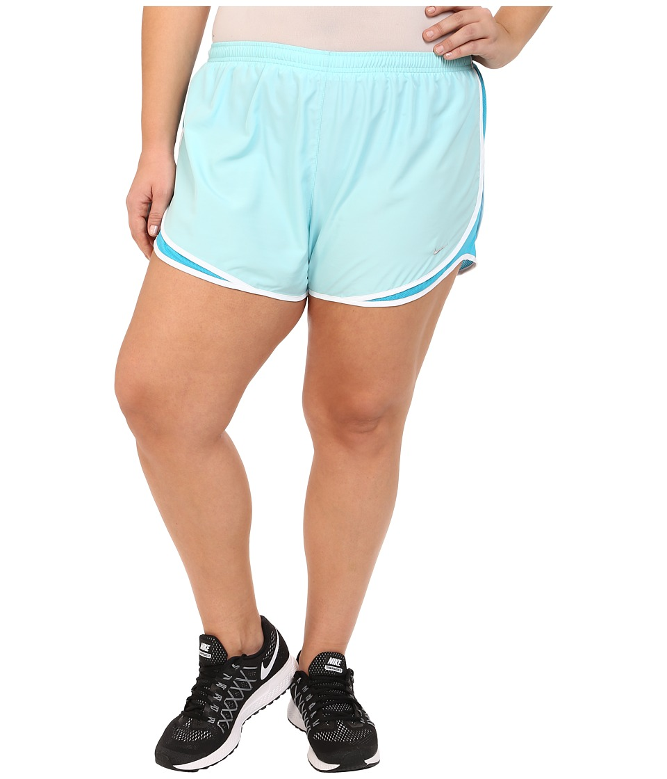 Nike - Extended Sizing Tempo Track Short (Copa/Blue Lagoon/White/Matte Silver) Women's Shorts