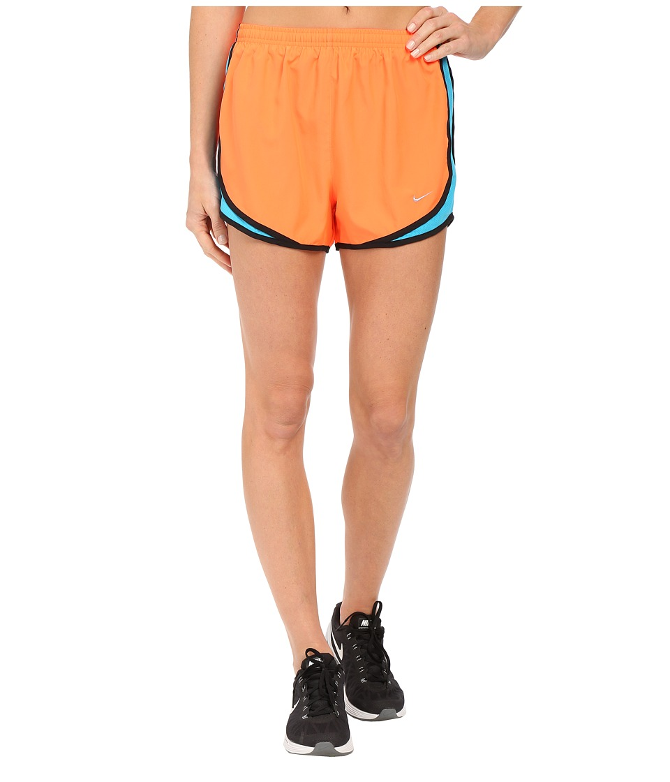 Nike - Tempo Short (Hyper Orange/Blue Lagoon/Matte Silver) Women's Workout