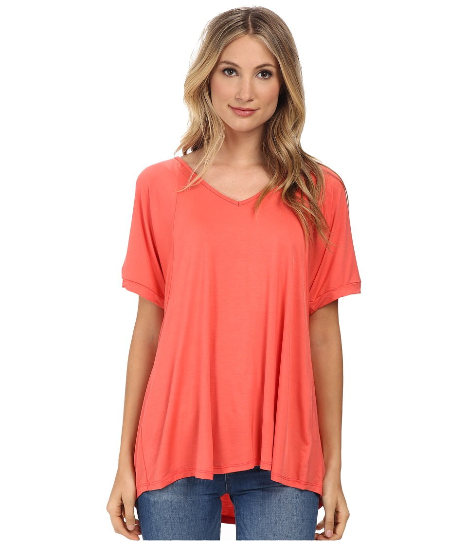 Culture Phit - Viola Modal Short Sleeve Top (Coral) Women
