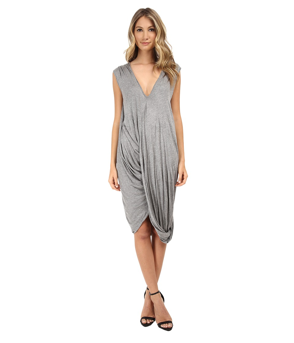 Culture Phit - Mollie V-Neck Dress (Heather Grey) Women