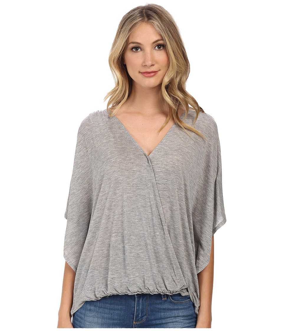 Culture Phit - Katie Butterfly Arm Top (Heather Grey) Women's Clothing