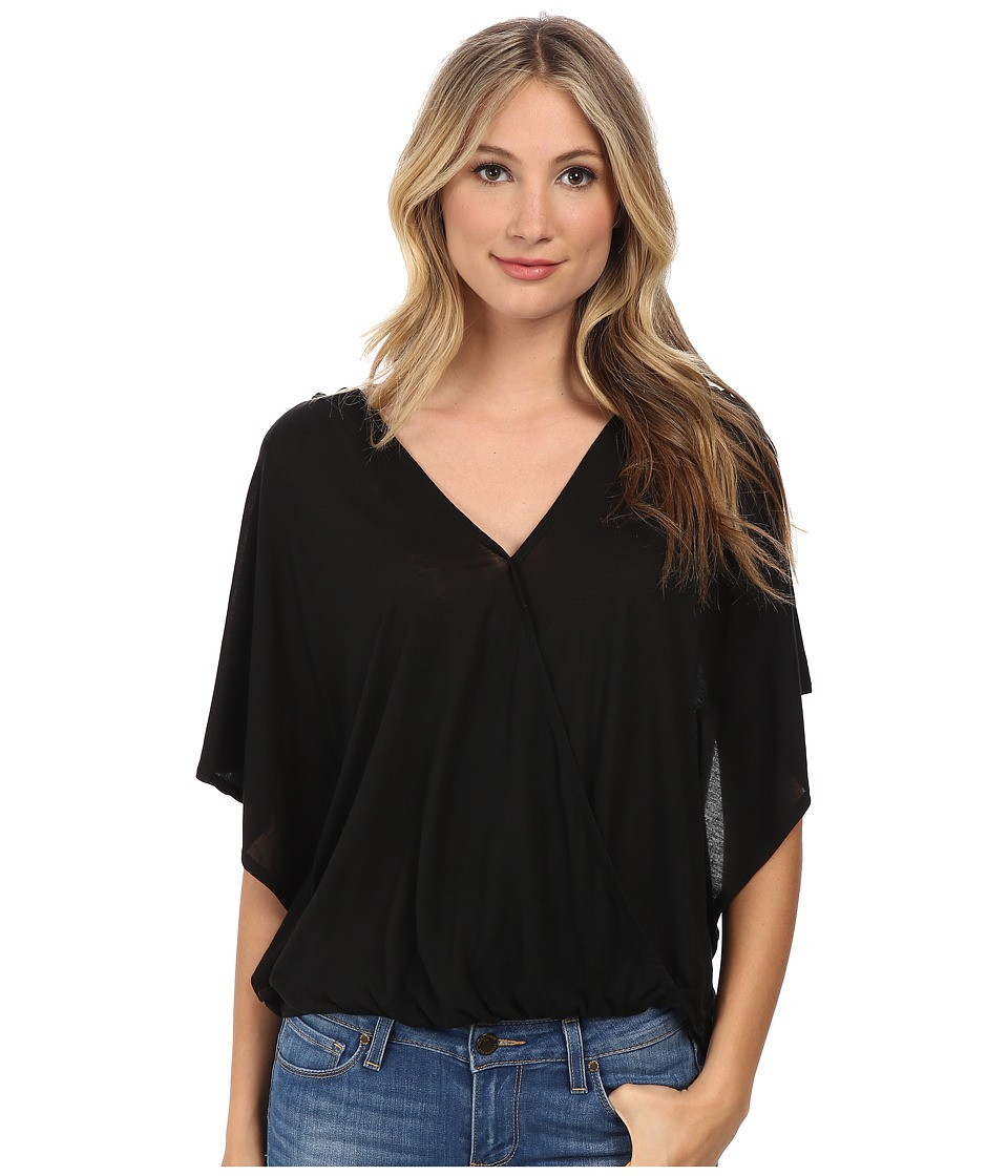 Culture Phit - Katie Butterfly Arm Top (Black) Women's Clothing