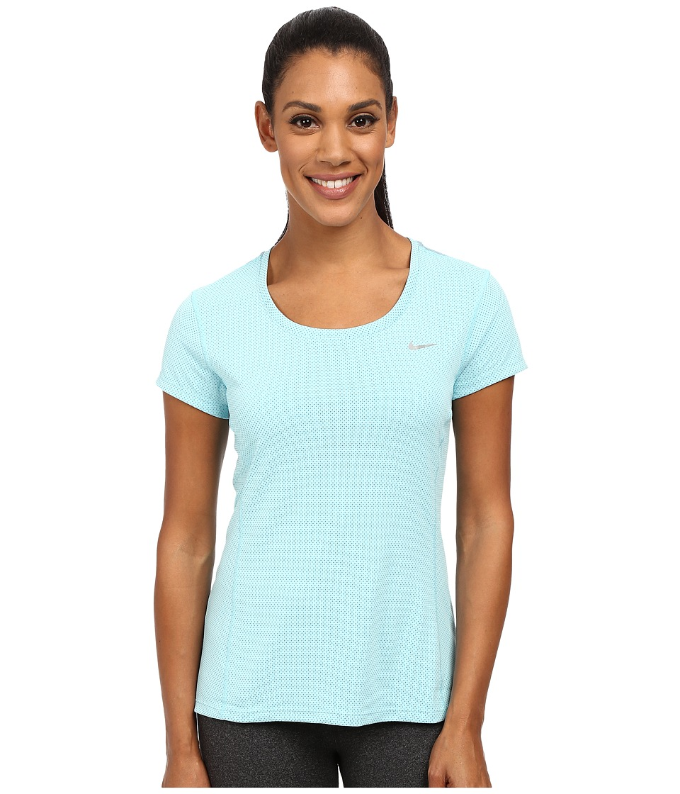 Nike - Dri-FIT Contour Short Sleeve (Copa/Reflective Silver) Women's Short Sleeve Pullover