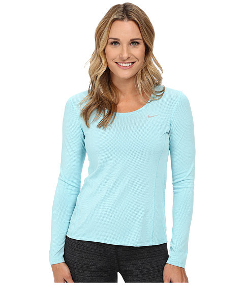 Nike - Dri-FIT Contour Long Sleeve (Copa/Reflective Silver) Women's Clothing