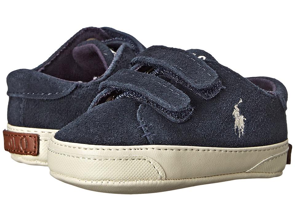 Polo Ralph Lauren Kids - Jermaine EZ (Infant/Toddler) (Navy Suede) Boys Shoes