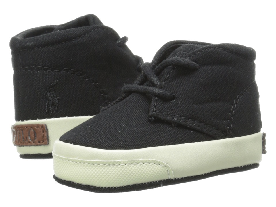 Ralph Lauren Layette Kids - Derek (Infant/Toddler) (Black Canvas) Boys Shoes