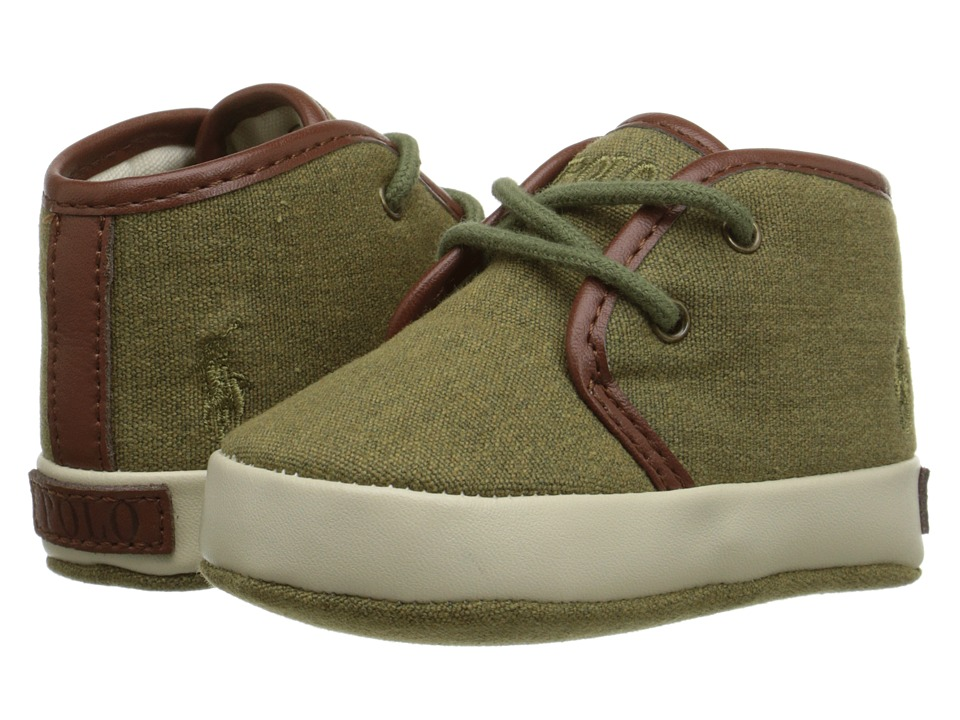 Polo Ralph Lauren Kids - Ethan Mid (Infant/Toddler) (Army Canvas) Boys Shoes