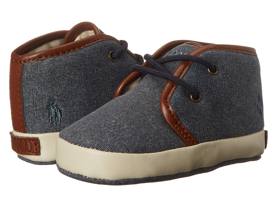 Polo Ralph Lauren Kids - Ethan Mid (Infant/Toddler) (Navy Canvas) Boys Shoes