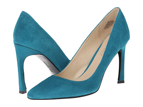 Nine West - Cardio (Blue Green Suede) High Heels