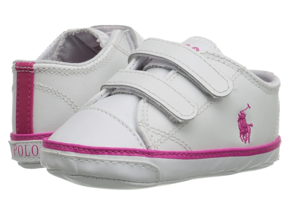 Polo Ralph Lauren Kids - Carson II EZ (Infant/Toddler) (White Leather) Girls Shoes
