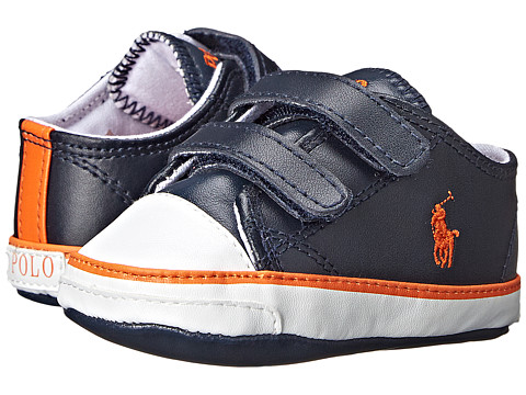 Ralph Lauren Layette Kids - Carson II EZ (Infant/Toddler) (Navy) Boys Shoes