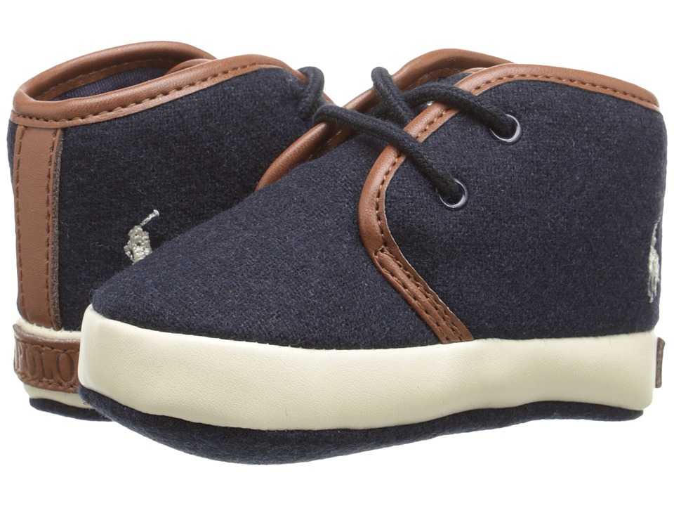Polo Ralph Lauren Kids - Ethan Mid (Infant/Toddler) (Navy) Boys Shoes