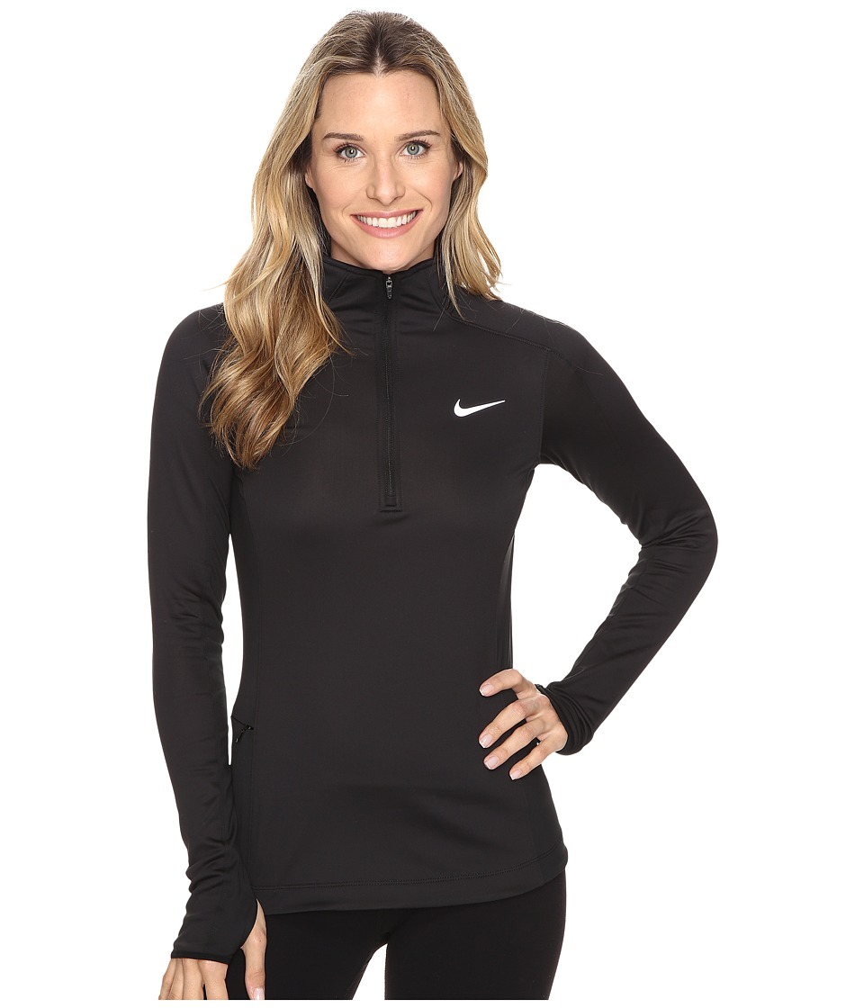 Nike - Thermal 1/2 Zip (Black/Black/Reflective Silver) Women's Clothing