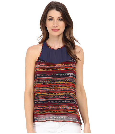 Sam Edelman - Mix Print Razor Tank Top (Multi) Women's Sleeveless