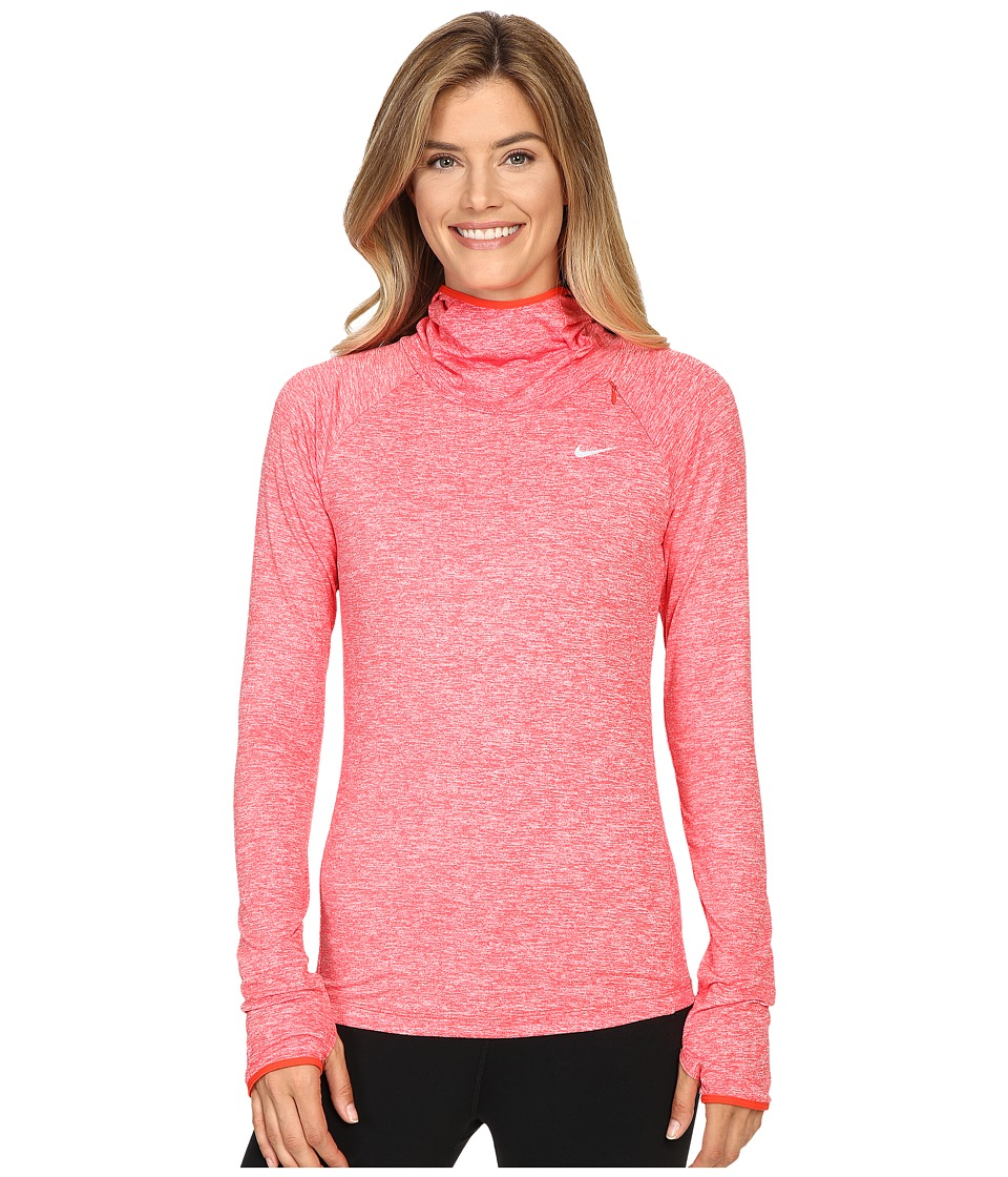 Nike - Dry Element Running Hoodie (Light Crimson/Heather/Reflective Silver) Women's Sweatshirt