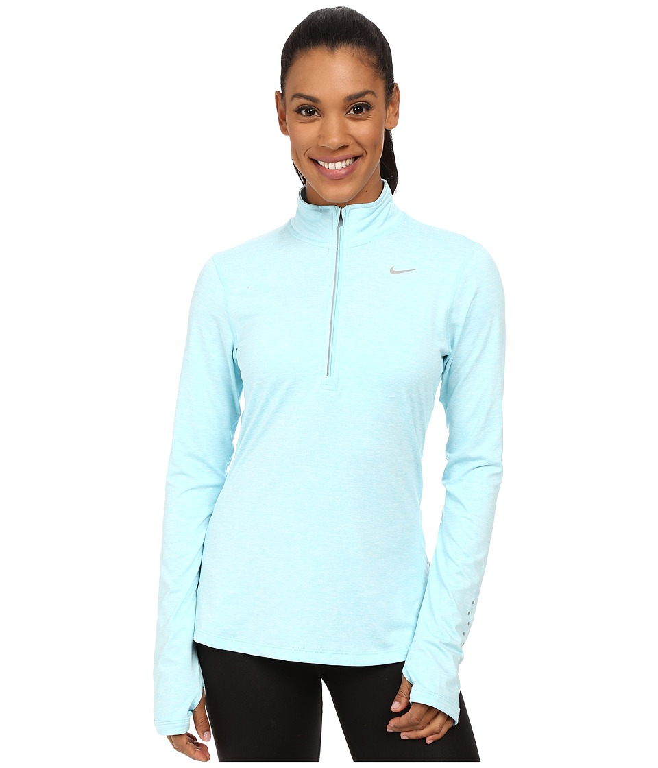 Nike - Dri-FIT Element Half Zip (Copa/Heather/Reflective Silver) Women's Long Sleeve Pullover
