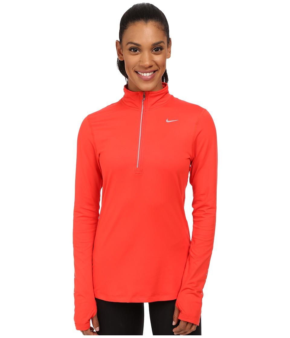 Nike - Dri-FIT Element Half Zip (Light Crimson/Reflective Silver) Women's Long Sleeve Pullover