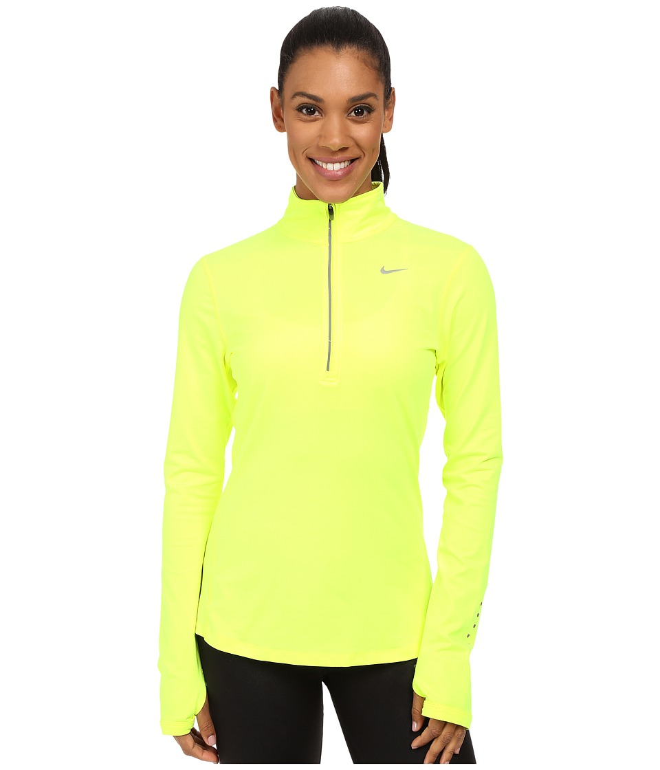 Nike - Dri-FIT Element Half Zip (Volt/Reflective Silver) Women's Long Sleeve Pullover
