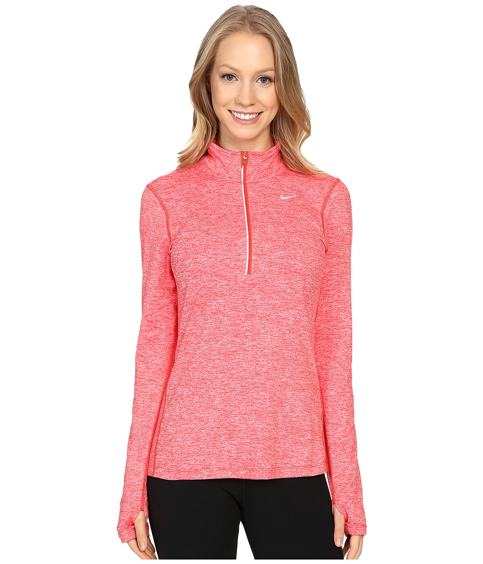 Nike - Dri-FIT Element Half Zip (Light Crimson/Heather/Reflective Silver) Women's Long Sleeve Pullover
