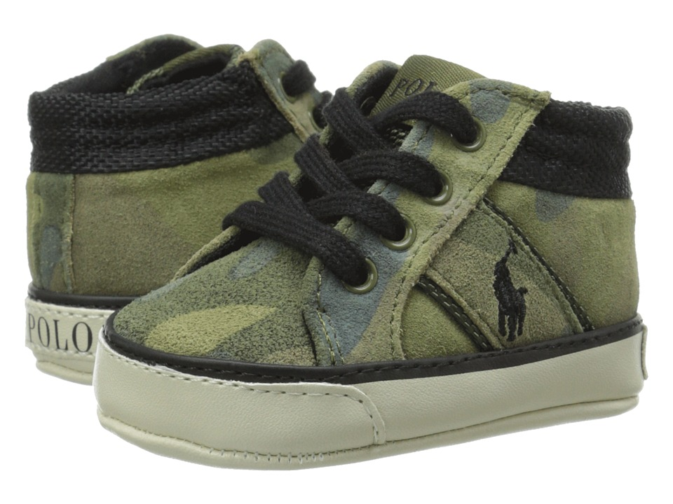 Polo Ralph Lauren Kids - Bawtry (Infant/Toddler) (Army Camo) Boy's Shoes