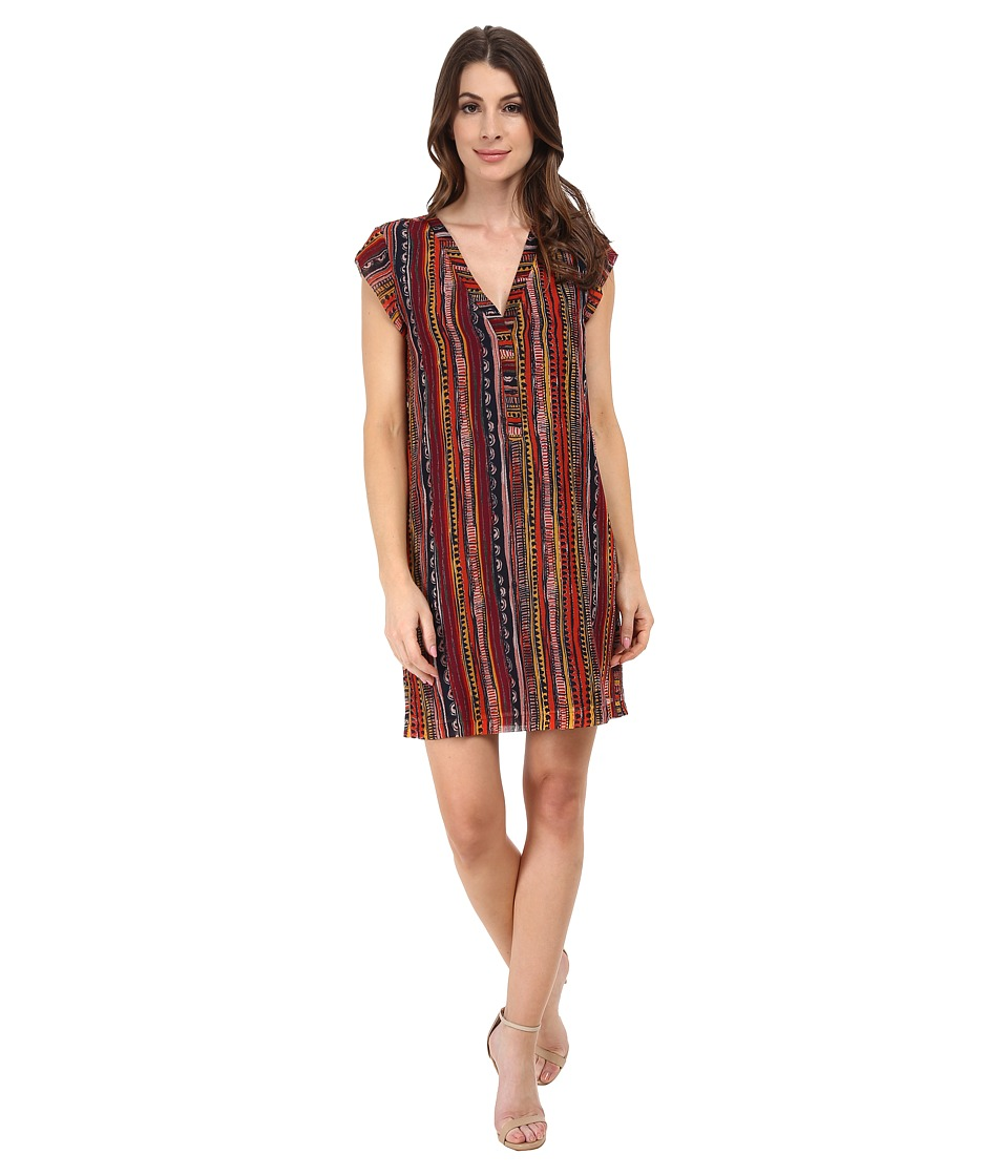 Sam Edelman Side Button Down Dress (Multi) Women