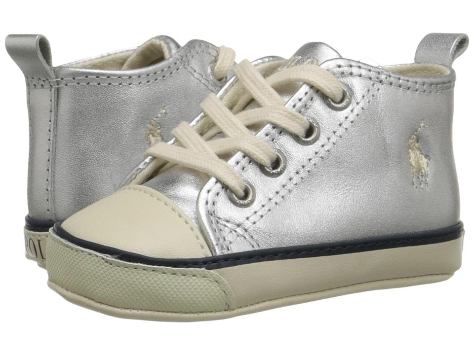 Polo Ralph Lauren Kids - Sag Harbour Hi (Infant/Toddler) (Silver) Girls Shoes