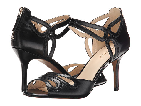 Nine West - Grandslam (Black Leather) High Heels