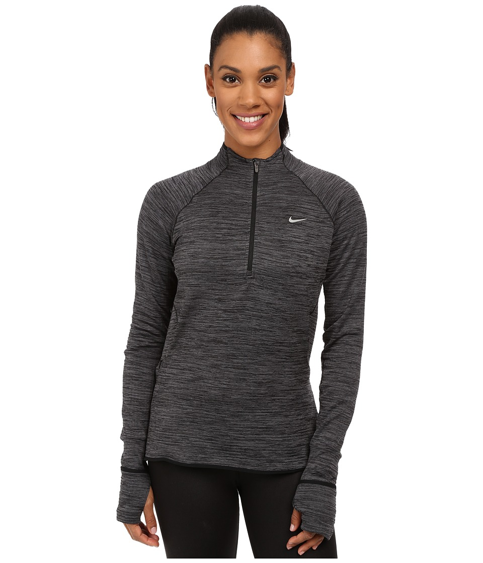 Nike - Element Sphere 1/2 Zip (Black Heather/Reflective Silver) Women's Clothing