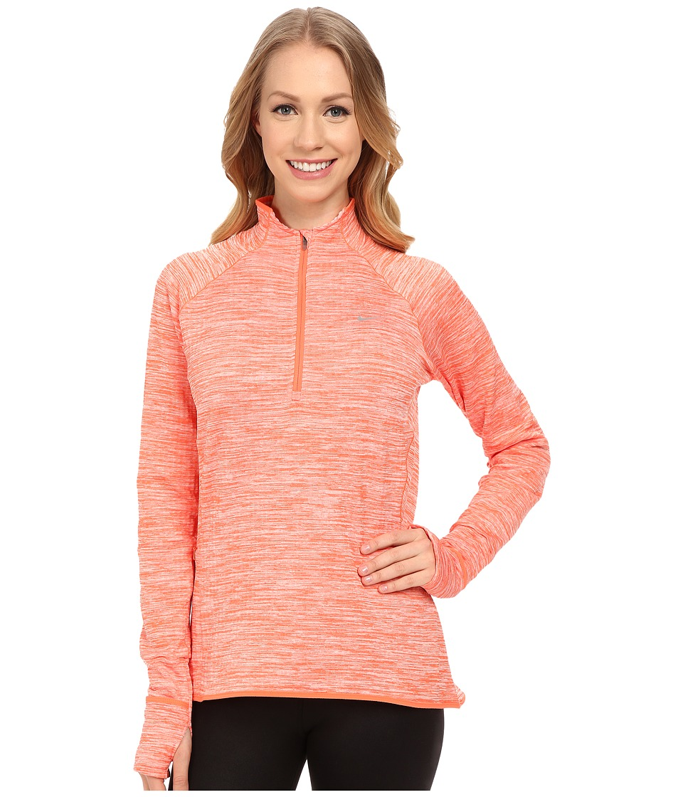 Nike - Element Sphere 1/2 Zip (Light Wild Mango Heather/Reflective Silver) Women's Clothing