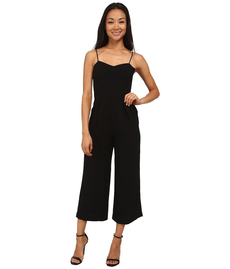 Sam Edelman - Solid Sweetheart Wide Leg Jumpsuit (Black) Women's Jumpsuit & Rompers One Piece