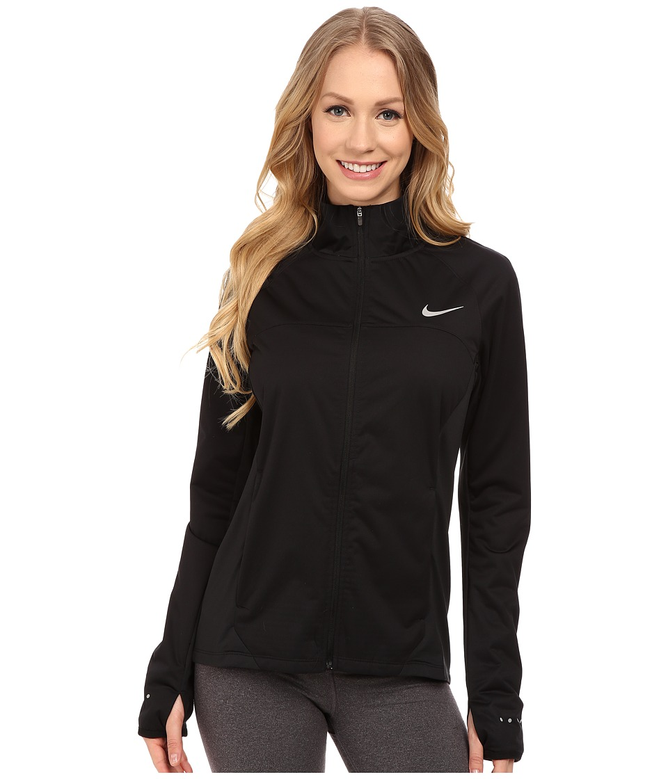 Nike - Shield Full-Zip 2.0 Jacket (Black/Reflective Silver) Women's Coat