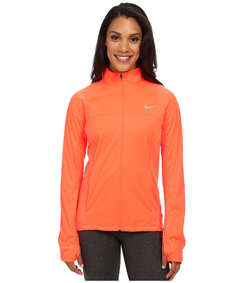 Nike - Shield Full-Zip 2.0 Jacket (Hyper Orange/Reflective Silver) Women's Coat