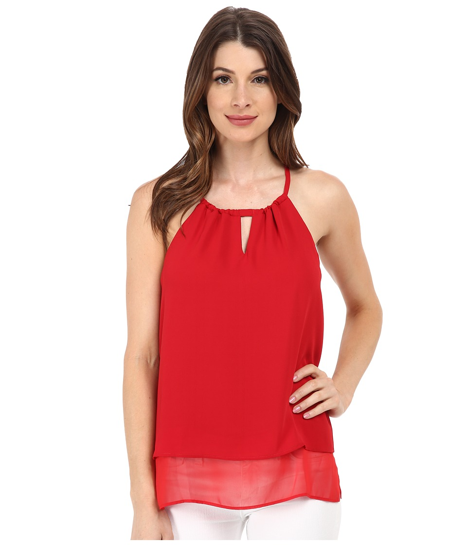 Sam Edelman - Mix Media Camisole (Rouge) Women's Sleeveless