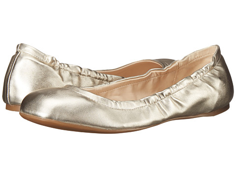 Nine West - Goalie (Light Gold Synthetic) Women's Slip on Shoes